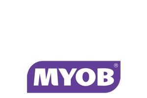 MYOB logo justified