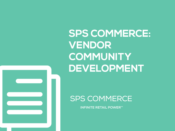 SPS Commerce White Paper: Vendor Community Development