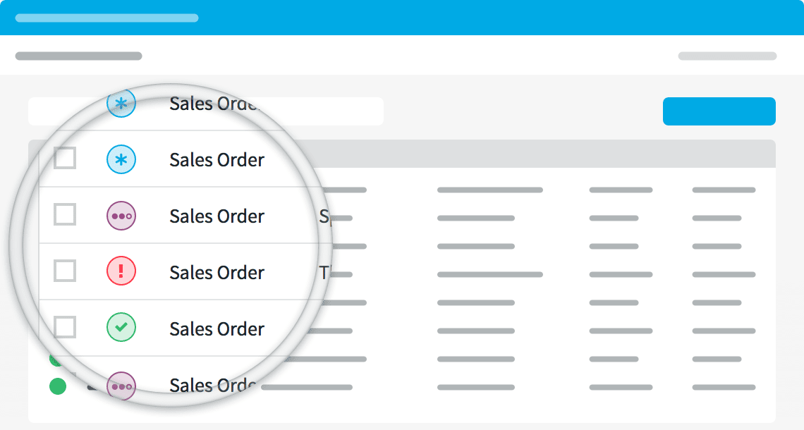 Screenshot demonstrating a feature in our Quickbooks EDI solution. At-a-glance visibility for all of your orders.