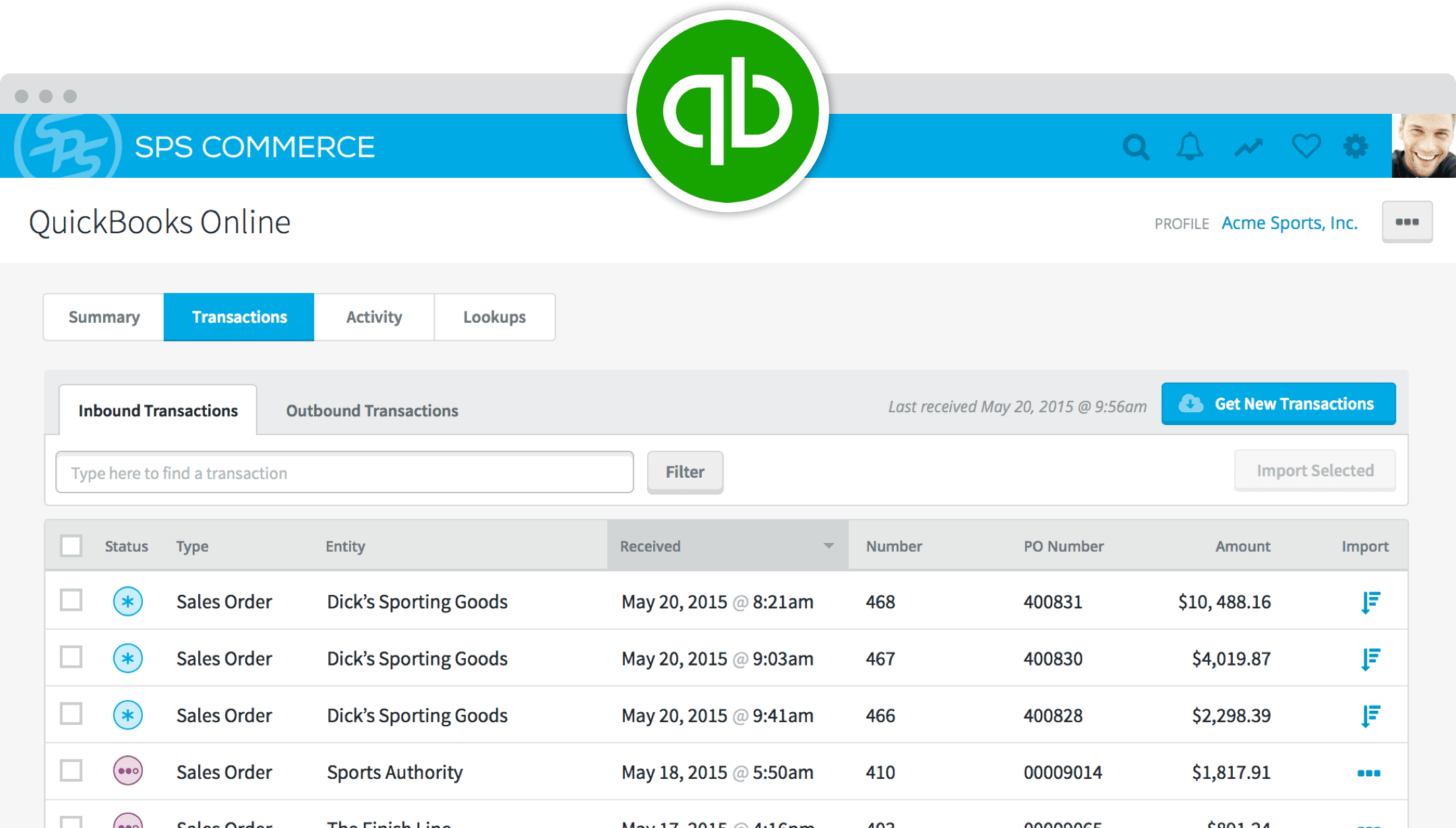 Quickbooks EDI integration. Manage your Quickbooks purchase orders, ship notices, and more