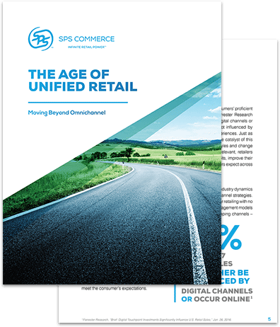 "white paper from SPS Commerce titled ""The Age of Unified Retail"""