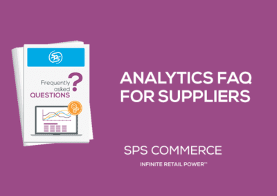 Analytics for Suppliers FAQ