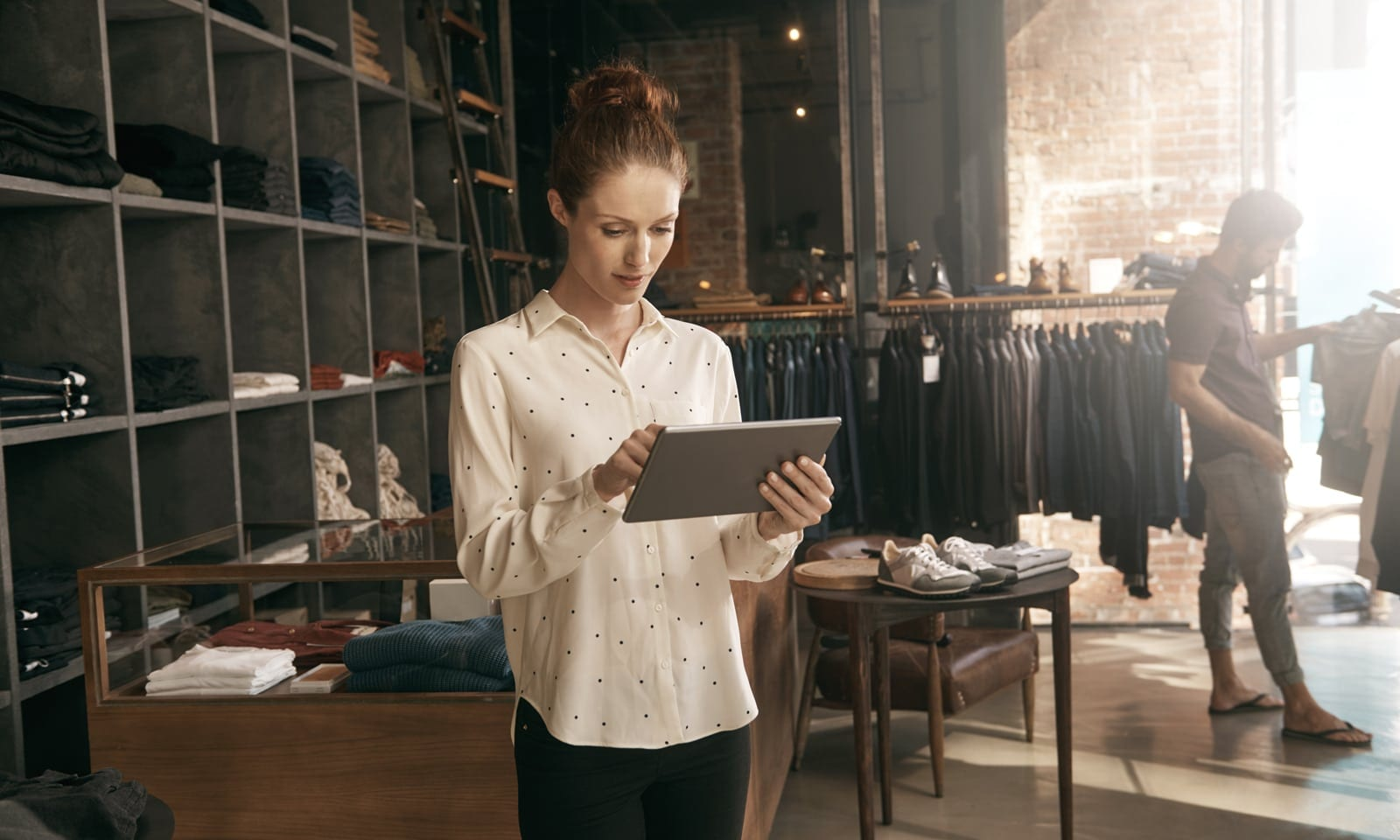 Retail Sourcing - Woman with Tablet