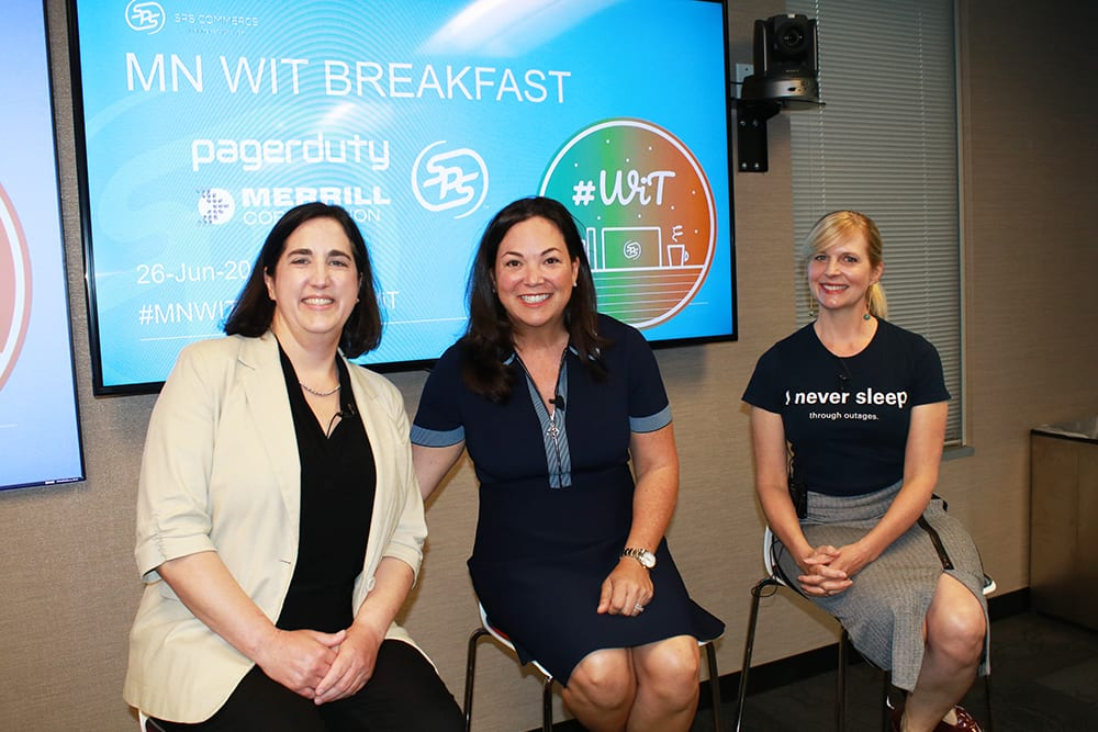 Amy Patton Jennifer Tejeda Peg Mickelson at SPS Commerce Tech Breakfast