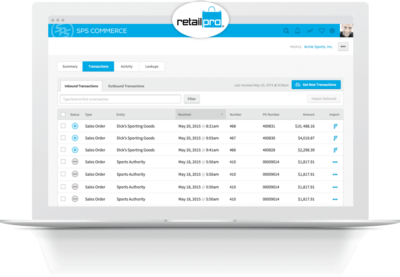 Retail Pro EDI integration from SPS Commerce