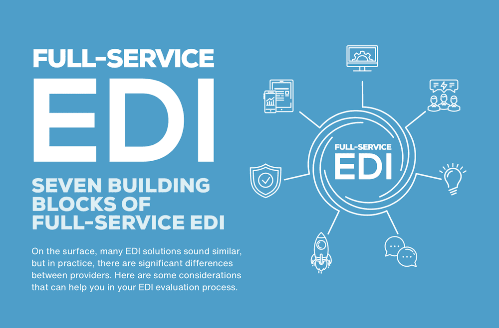 Seven elements of full-service EDI [Infographic]