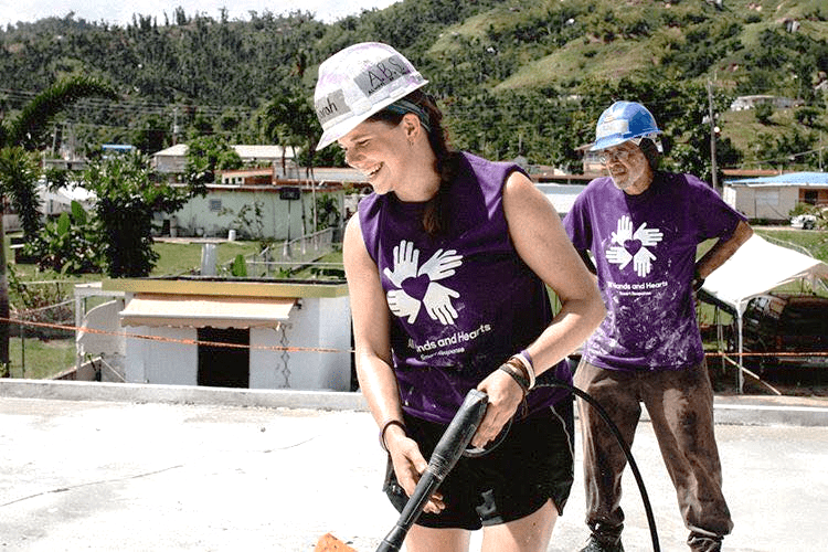 Meet Sarah de St. Aubin: #TeamSPS advocate for volunteerism-powered disaster relief