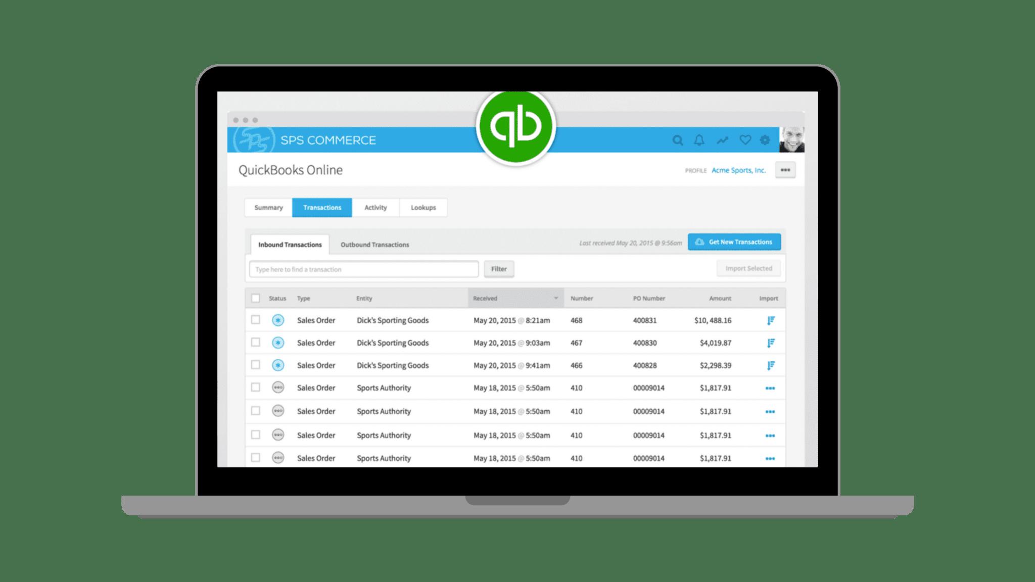 QuickBooks Online EDI Integration